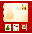 Christmas postcard vector | Price: 1 Credit (USD $1)