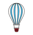 color sectors silhouette of hot air balloon vector image vector image