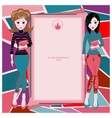 Colorful frame for girls Teens vector image