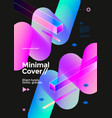 creative design poster with vibrant gradient shape vector image vector image