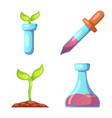 design of genetic and plant logo set of vector image