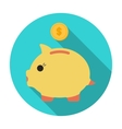 Donation piggybank icon in flat style isolated on vector image