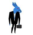 Donkey businessman Metaphor of Democratic Party of vector image vector image
