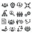 employee icons business and management icons vector image vector image