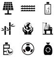 environmental icon set vector image