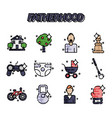 fatherhood flat icons set vector image