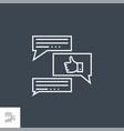 feedback line icon vector image