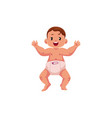 flat newborn cute baby boy in diaper vector image