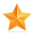 Golden 3d star premium The best reward vector image