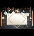golden holiday frame-13 vector image vector image
