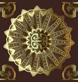 Greek ornamental gold 3d seamless mandala pattern