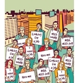 Group unemployment people protest demonstration on vector image vector image