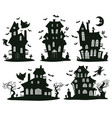 halloween haunted houses cartoon spooky vector image