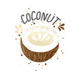 hand draw coconut brown vector image vector image
