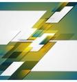 Hi-tech blue yellow geometric background vector image vector image