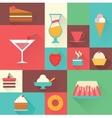 icons sweet dessert vector image
