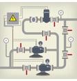 Infographic scheme with liquid water tank vector image vector image
