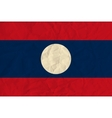 Laos paper flag vector image