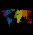 lgbt dotted world map vector image