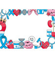 medical frame with elements vector image vector image