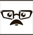 moustaches and eyeglasses icon vector image vector image