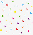 multicolor abstract pixelated icons seamless vector image vector image