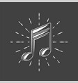 musical notes is depicted on a background vector image