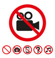 no camera sign icon on white background vector image