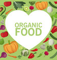 organic food fresh harvest image vector image vector image