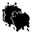 paintball splash blob icon simple style vector image vector image