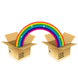 Rainbow from Box vector image