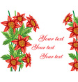 Red Floral Background with Text Space vector image vector image