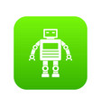 robot icon digital green vector image vector image