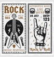 rock music festival two vertical banners vector image vector image