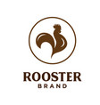 rooster farm logo design template natural vector image