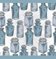 seamless texture with colorful sketch bottles vector image vector image
