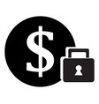 secure money icon vector image vector image