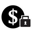 secure money icon vector image