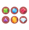 set colored gems vector image vector image