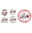 set of logos heavy truck vector image