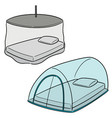 set of mosquito net vector image vector image