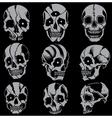 Skulls Old school style Set 01 vector image