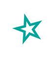 star icon rank star trendy flat design star web vector image vector image
