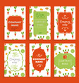 templates cards vector image