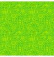 Thin Irish Line Saint Patrick Day Seamless Green vector image vector image