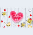 valentines day greeting card or sale banner of vector image vector image