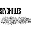 when to get cheap deals to seychelles text word vector image vector image