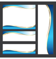 Template card element design vector image