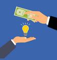 buy dollars idea business concept vector image