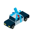 police car toy icon isometric vector image